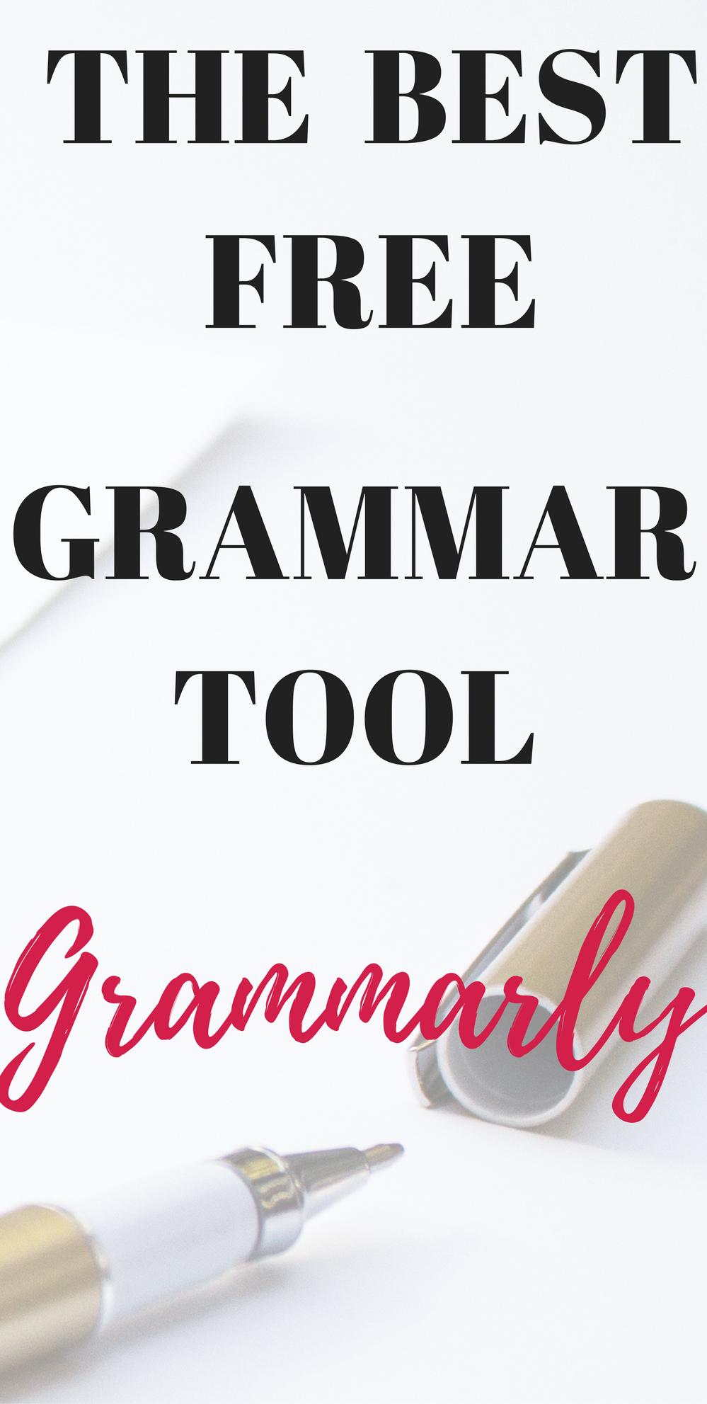 Grammarly a free grammar tool