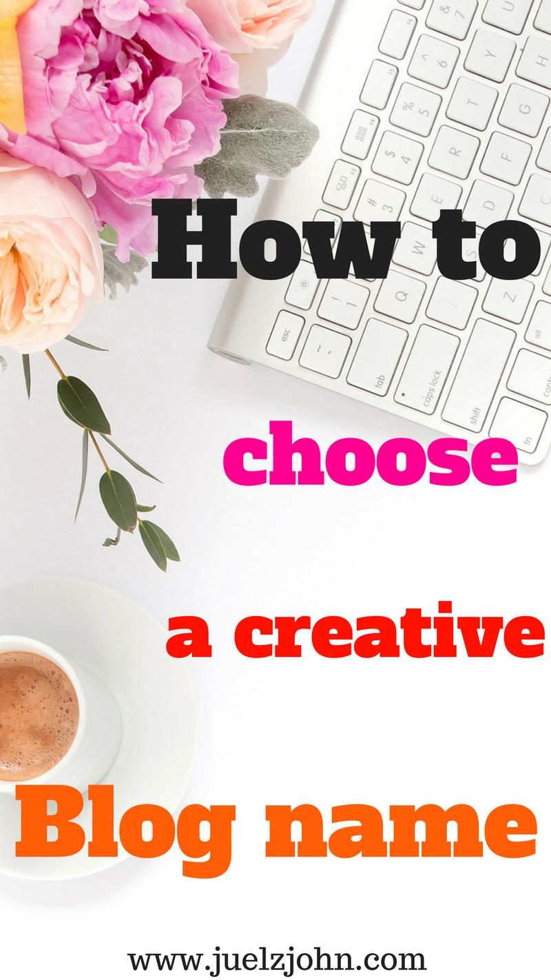 how to choose acreative blo name