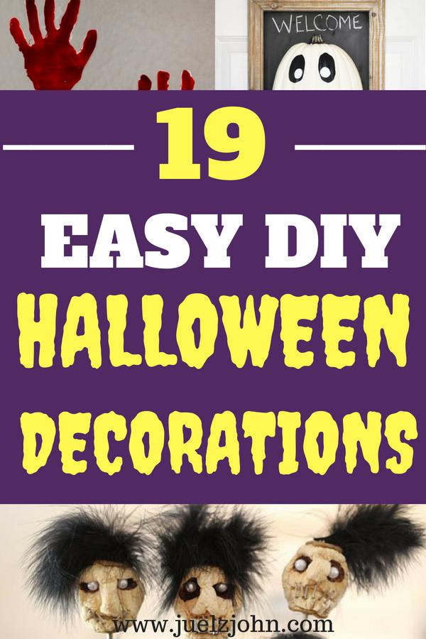 cheap diy halloween decorations