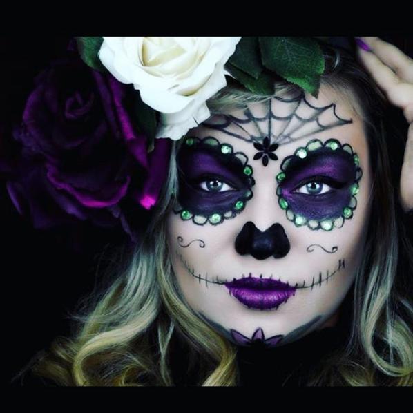 33 Simple Sugar Skull Makeup Looks 2018 Diy Halloween