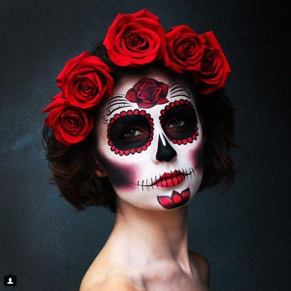 33 Simple Sugar Skull Makeup Looks-2018 DIY Halloween