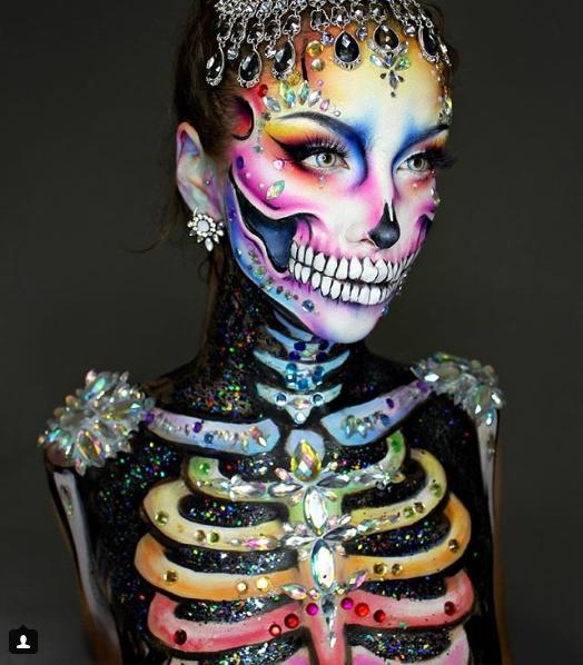 simple sugar skull makeup ...