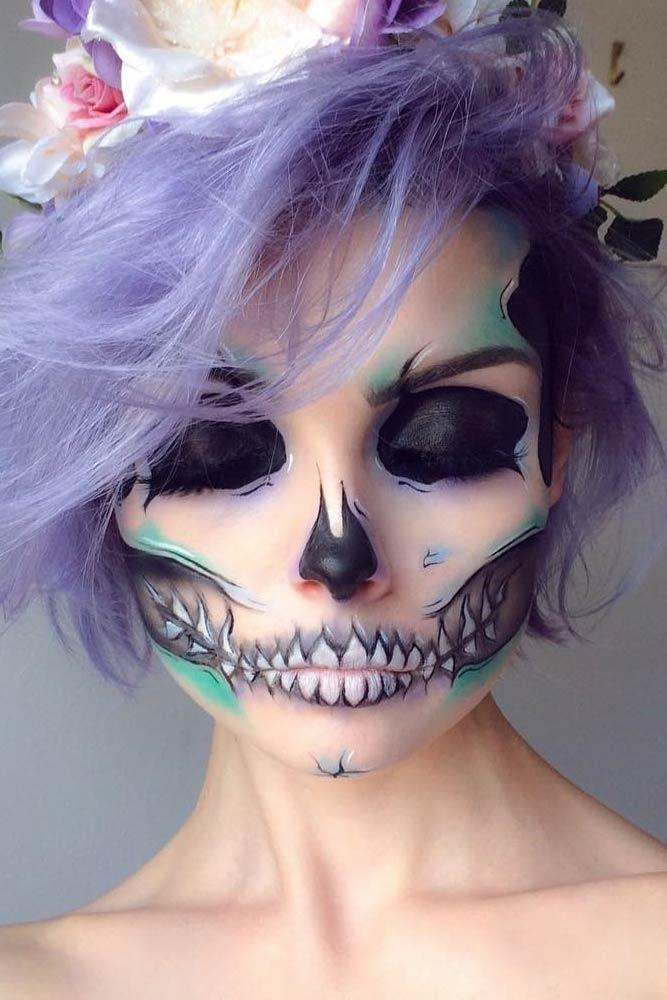 33 Simple Sugar Skull Makeup looks- 2020 DIY Halloween ...