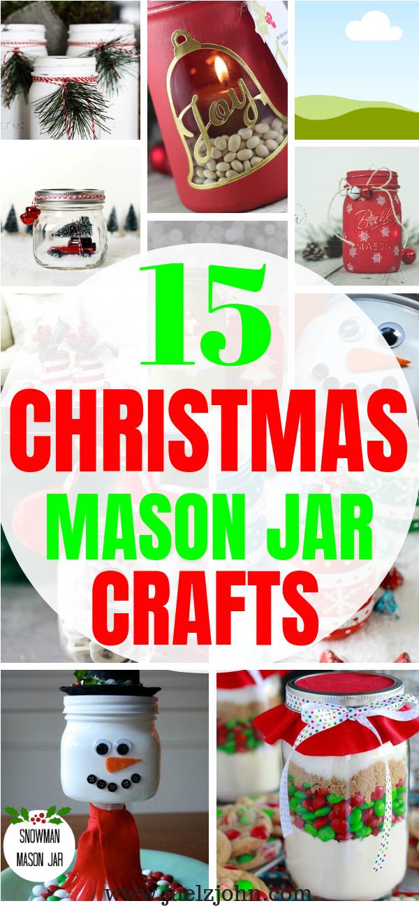 15 Fabulous And Festive Christmas Mason Jar Crafts Juelzjohn