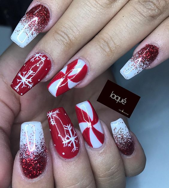 Christmas Nails Design Easy: 30 Festive And Easy Christmas Nail Art Designs You Must