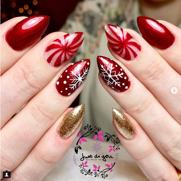 30 Festive and easy Christmas nail art designs you must try