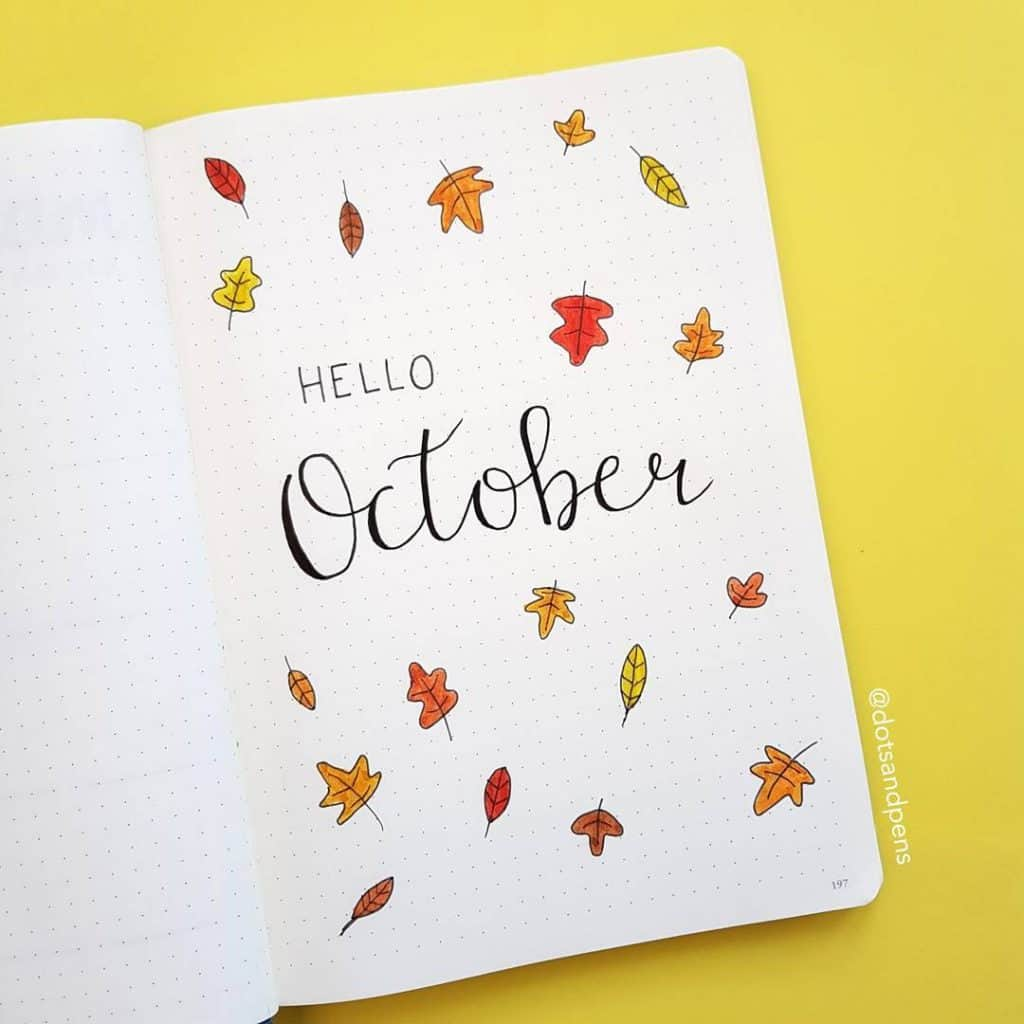 27 Bullet Journal Monthly Cover Ideas For October Juelzjohn