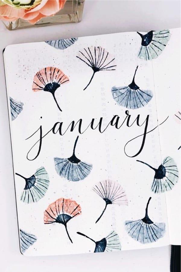 January bujo covers