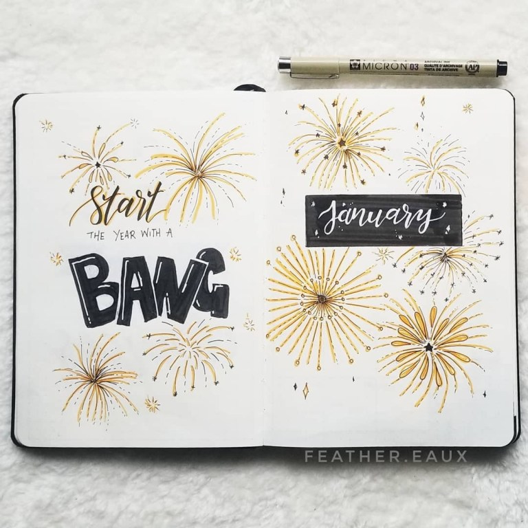 january bullet journal covers