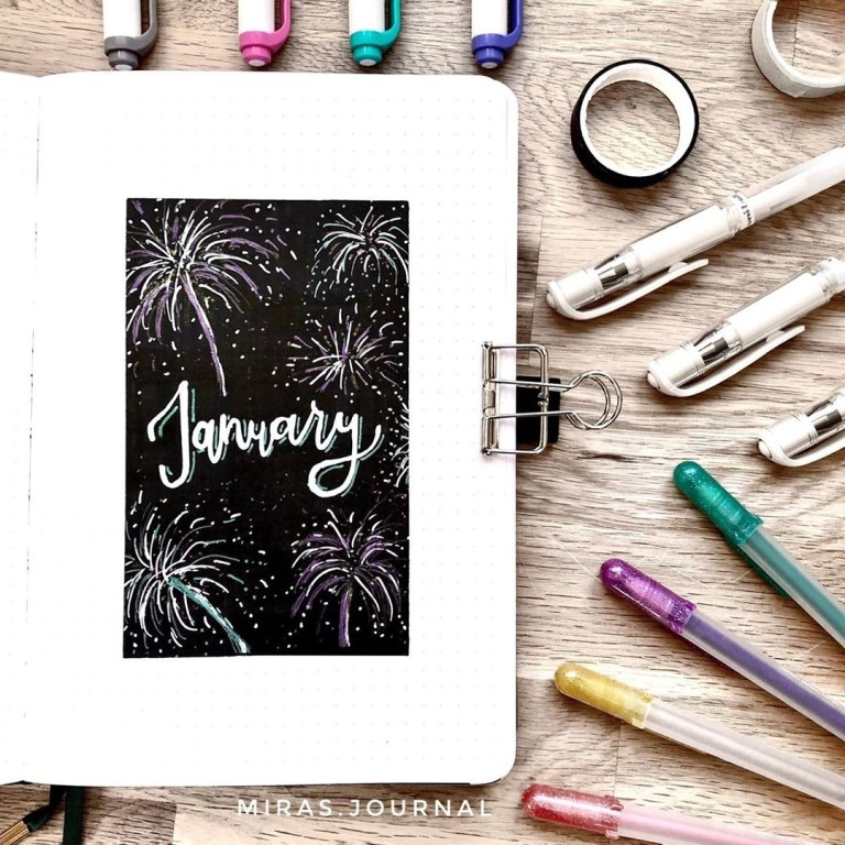 bujo monthly cover ideas