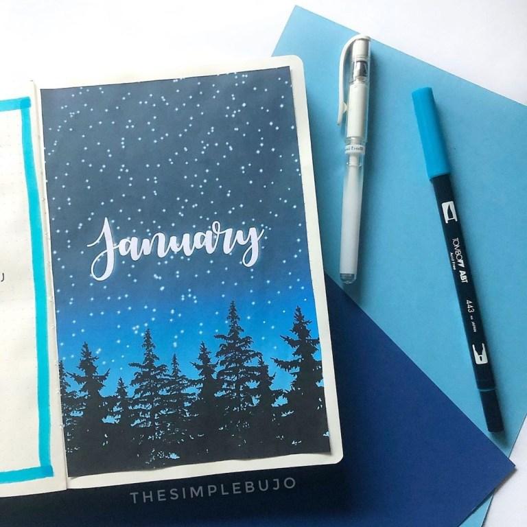 January bujo