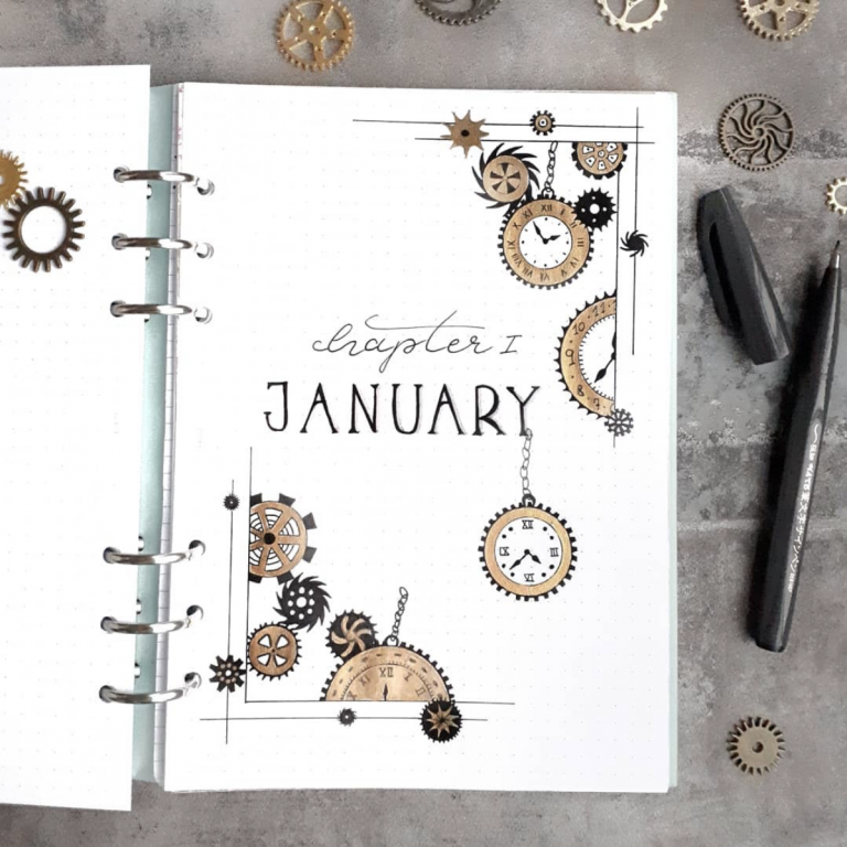 January monthly cover spread ideas