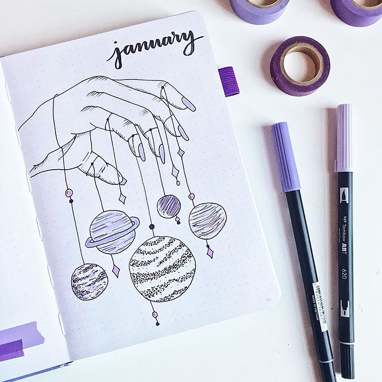 Monthly bullet journal ideas for January