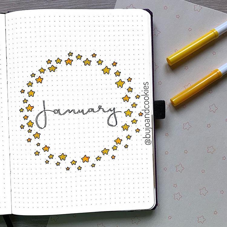 January bujo ideas