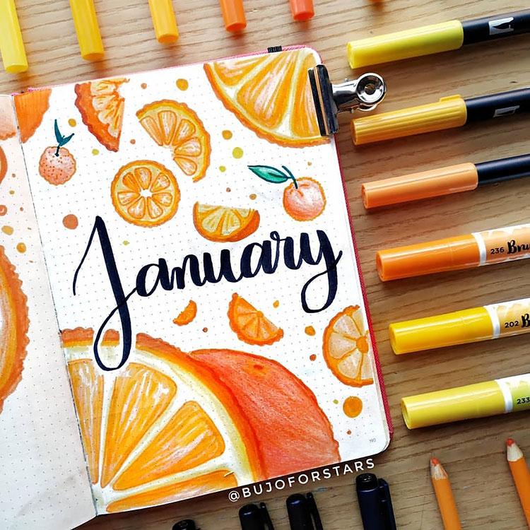 January bullet journal ideas